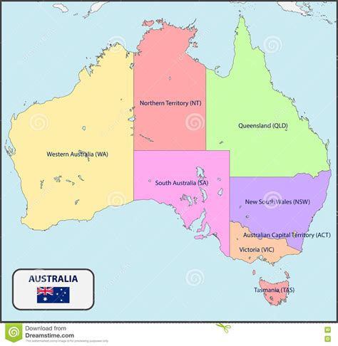 political map of australia with capitals political map maps of australia and oceania oceanian with