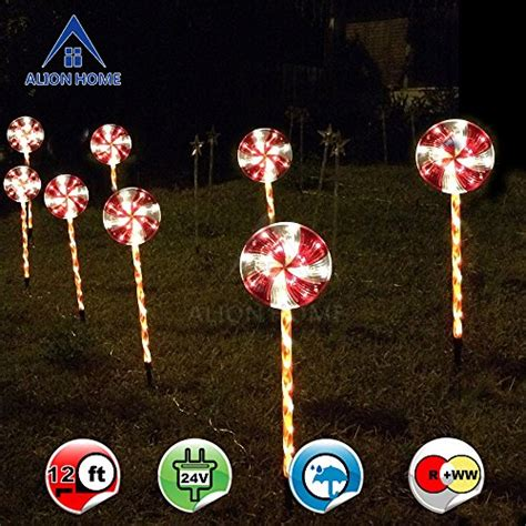 led candy cane path lights driveway lighting landscape lighting