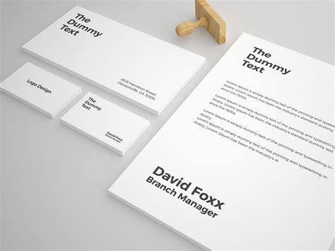 business card letterhead mockup free stationery mock up template graphic