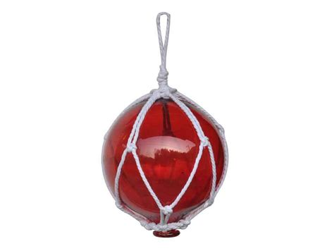 japanese glass buy red japanese glass ball fishing float with white
