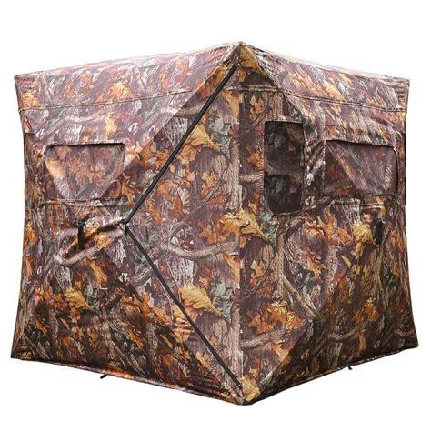 Pop Up Deer Blinds pop up ground blind real tree wood camo tent hunt