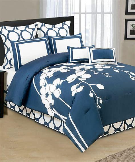 cobalt blue comforter set cobalt orchidea reversible overfilled comforter set home