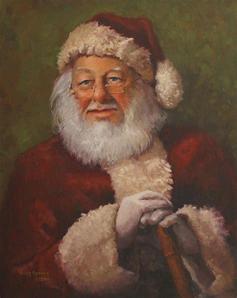 burts santa painting by vicky gooch