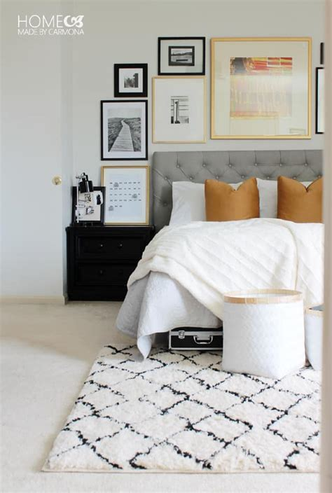master bedroom makeover on a budget bsb pinterest gallery wall by home made by carmona