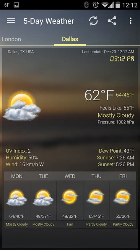 weather clock widget android apk free weather android app appraw - Weather Apps Free Android