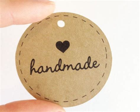 Handcrafted By Labels - 25 best ideas about handmade tags on tags