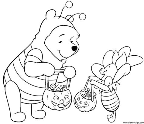 halloween coloring pages winnie the pooh disney halloween coloring pages getcoloringpages com