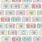 camera wallpaper pattern camera fabric wallpaper gift wrap spoonflower