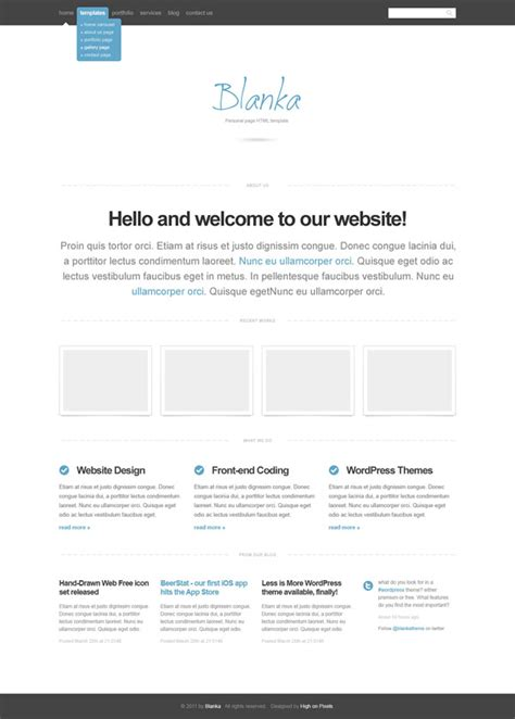 free html5 templates for dreamweaver 25 free dreamweaver css templates available to