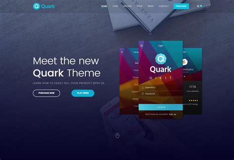 theme wordpress quark quark premium responsive single product ecommerce