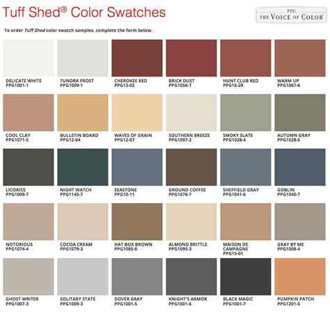 ppg paint colors introducing our new paint from ppg tuff shed
