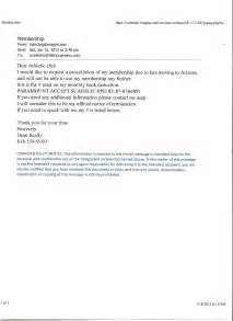 Membership Cancellation Letter Sample Free Gym Cancellation Letter Nationalmissingchildrencenter