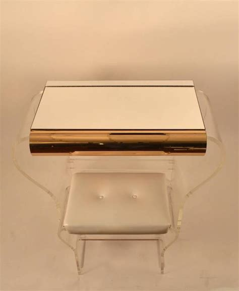 Lucite Vanity Bench Lucite Vanity And Bench For Sale At 1stdibs