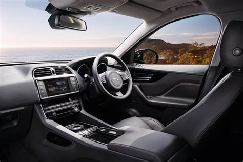 jaguar f pace inside jaguar f pace now on sale in australia from 74 340
