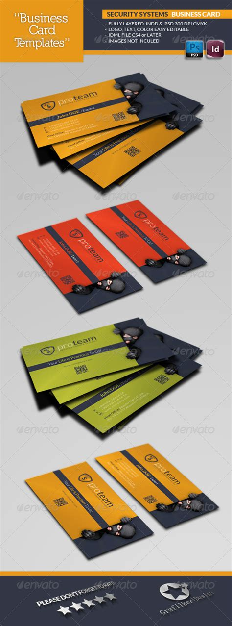security systems business card template security systems business card template by grafilker