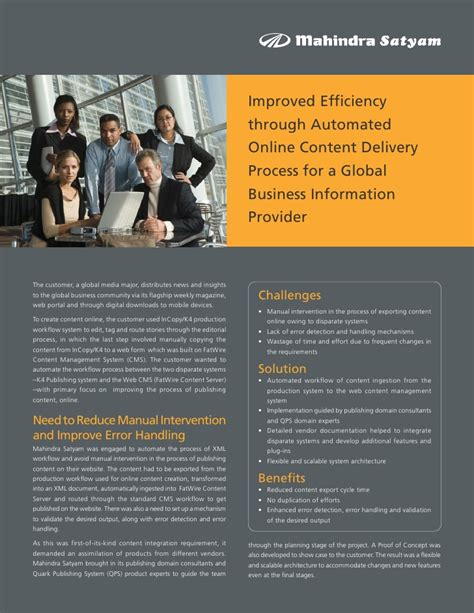 A M International Mba by Improved Efficiency Through Automated Content