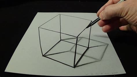Sketches 3d Easy by 3d Drawing A Simple Cube No Time Lapse How To Draw 3d