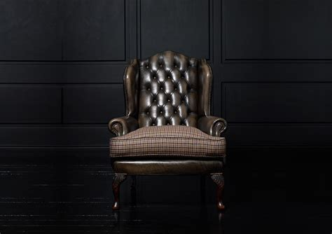 chesterfield wing armchair chesterfield armchair leather wool wing james boswell alley cat themes