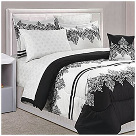 black and white lace comforter dan river 174 black white lace queen 8 piece bed in a bag