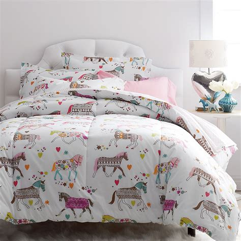 kids horse bedding super cozy kids comforter designed with a colorful
