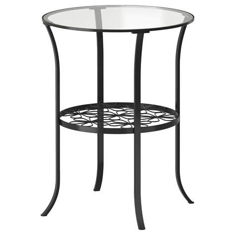 klingsbo side table black clear glass 49x60 cm ikea