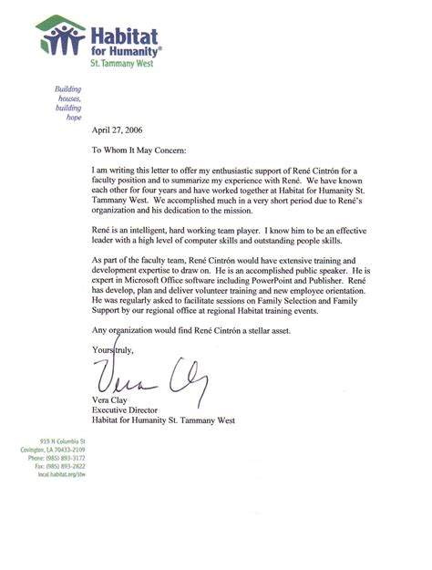 Business Letter For School Sle Business Letter Of Recommendation Best Template Collection