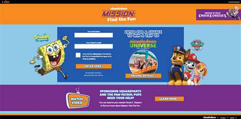 Nick Com Sweepstakes 2016 - missionfindthefun com nickelodeon mission find the fun sweepstakes 2016