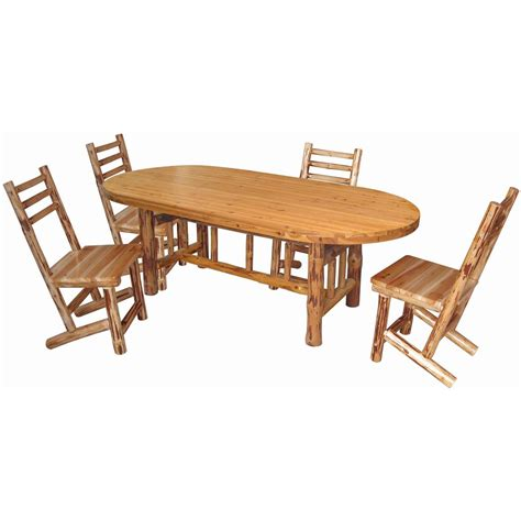 creek log cabin style dining table 589895 kitchen