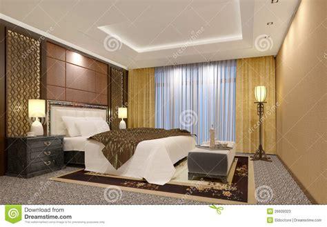Night Table Lamps quarto chique do hotel de luxo fotos de stock imagem