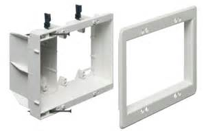 Low Voltage Electricians by Tv Box Recessed 3 Power Low Voltage Electrical Box White