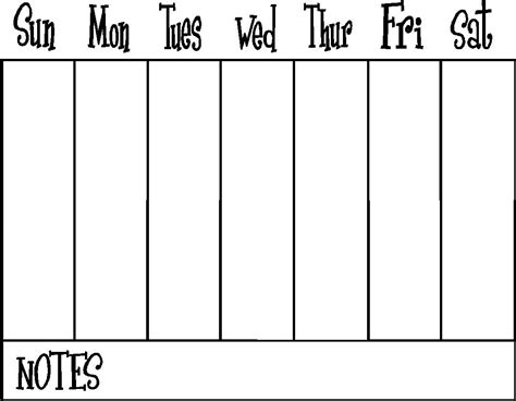 two week calendar template 2 weeks 1 page icon classy half this