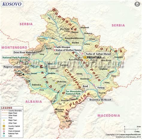 kosovo on a map kosovo map http www mapsofworld