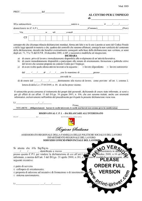 iscrizione all ufficio di collocamento lo sportello servizio di patronato on line la did on line