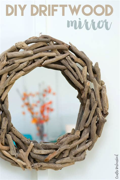 driftwood crafts for 5 minute diy driftwood wall mirror