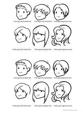 wet hairstyling worksheet hairstyling worksheets 58 free esl hair worksheets