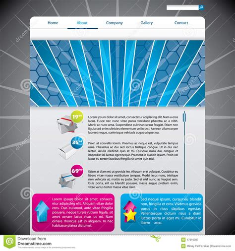Website Template With Hexagon Design Royalty Free Stock Photography Image 17910087 Hexagon Website Template