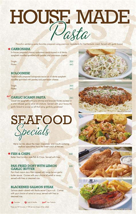 Racks Family Platter Menu by Racks Menu Book On Behance