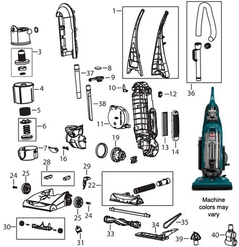 bissell proheat parts diagram bissell 84g9 rewind powerhelix vacuum cleaner parts