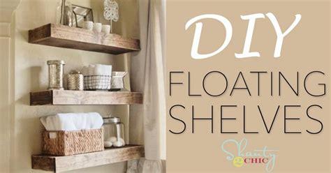 build  beautifully rustic diy floating shelves