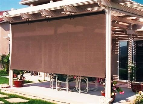 rolling shade awnings shade pro roller shade