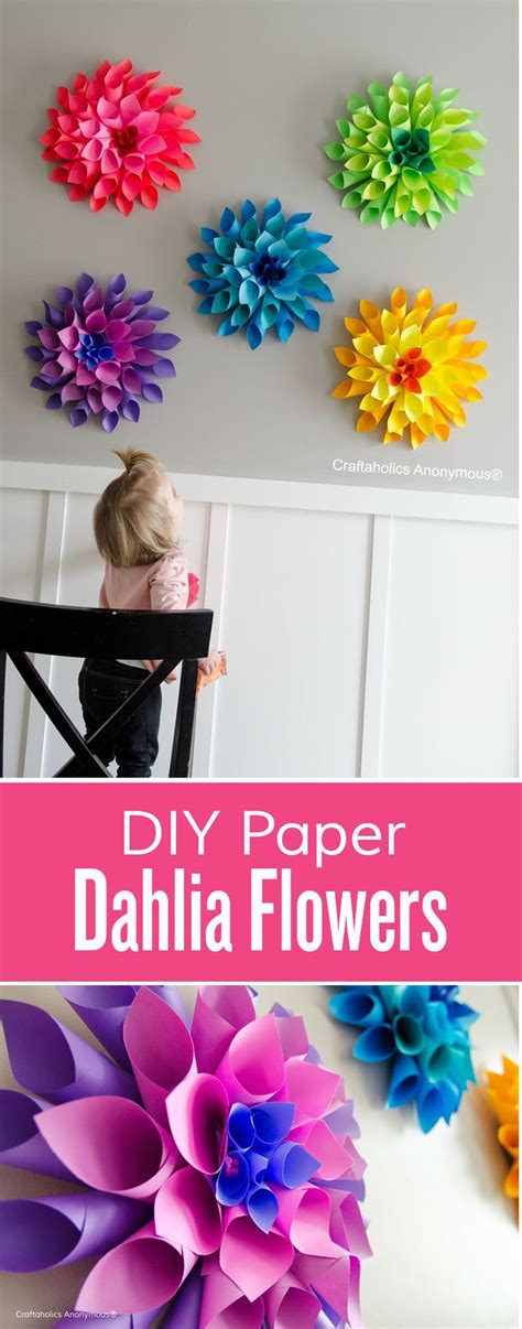 diy paper flowers craft best 25 flower crafts ideas on paper flowers craft simple paper flower and paper