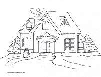 coloring pictures of santa workshop printable christmas coloring pages