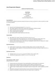 templates in java exle computer programmer analyst resume sales programmer