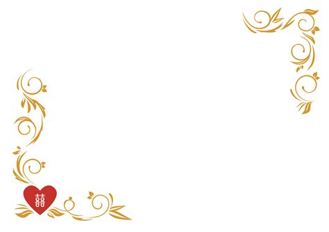 heart blank wedding card templates