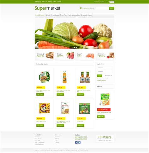 layout supermarket ppt th 232 me virtuemart 45942 pour une 233 picerie