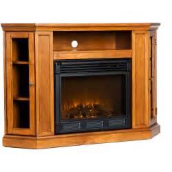 silverado electric fireplace media console glazed pine