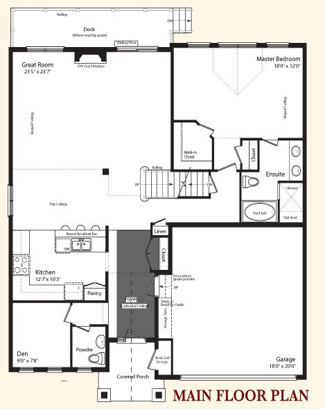 main floor plans tanglewood collingwood s premier golf community