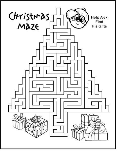 printable snowflake maze christmas maze on the road again pinterest trees