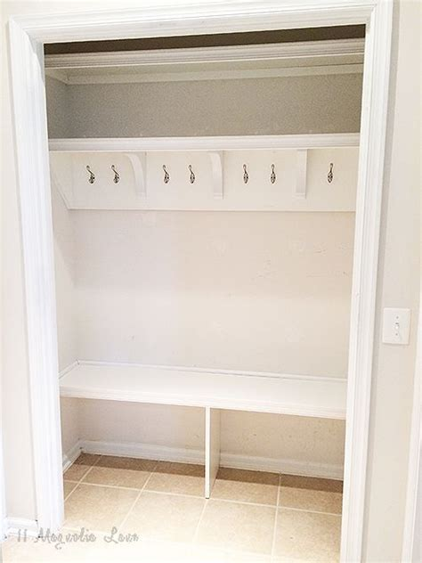 Turn Closet Into Mudroom by How To Turn A Closet Into A Mudroom Room Closet Coat