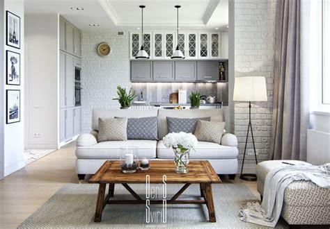 top small aprtment tips drewniany stolik kawowy do białych cegieł zdjęcie w serwisie lovingit pl 47607
